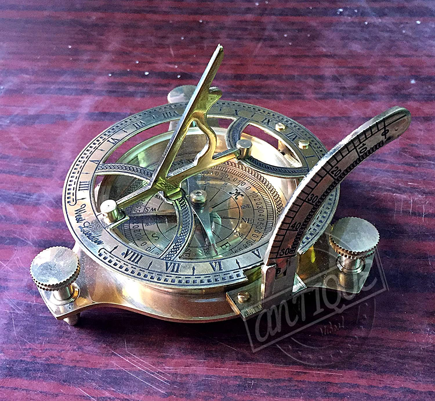 AV Nautical Sundial Selling Max 80% OFF and selling with Compass Gift Style Vintage Clock Unique