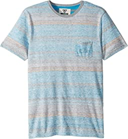 VISSLA Kids - Southy Short Sleeve Pocket Tee (Big Kids)
