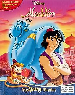 Phidal-Disney Aladdin My Busy Books - Multi color