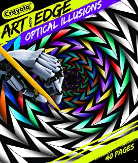 Best Crayola Optical Illusions Coloring Book, 40 Coloring Pages, Gift Review