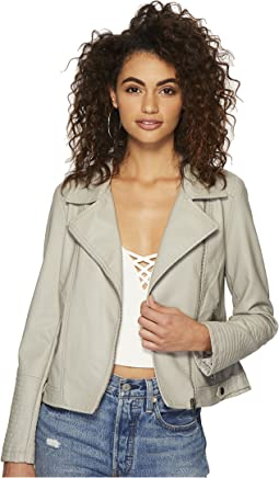 Jack by BB Dakota - Laren Washed Crinkled Vegan Leather Moto Jacket