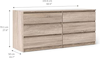 Tvilum Scottsdale 6 Drawer Double Dresser, Truffle