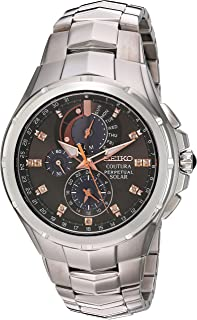 Seiko Men's Coutura Japanese-Quartz Watch with Stainless-Steel Strap, Silver, 25 (Model: SSC561)