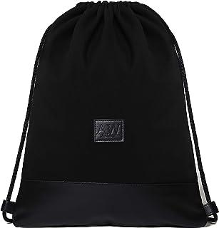 AW Stockholm - Turnbeutel Lucas - aus Canvas und veganem Leder - Stylischer Sportbeutel mit Zwei praktisch verschließbaren Taschen für Damen und Herren