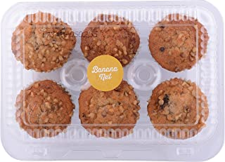 Whole Foods Market, Muffin Banana Nut Rm, 6 Count, 12 Ounce