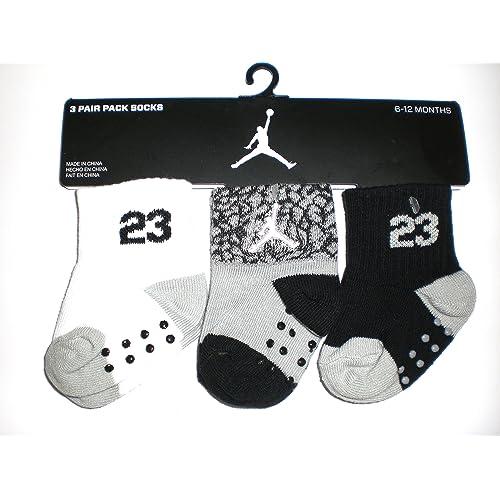 2f1d09eb5 Nike Air Jordan Newborn Baby Socks, 3 PAIRS, Size 06-12 Months