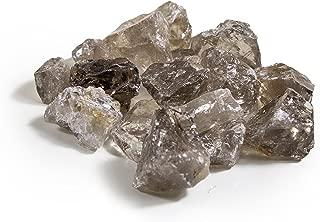 1 lb Bulk Smokey Quartz Rough Stones - Natural Raw Stones Mix & Fountain Rocks for Tumbling, Cabbing, Polishing, Wire Wrapping, Wicca & Reiki Crystal Healing