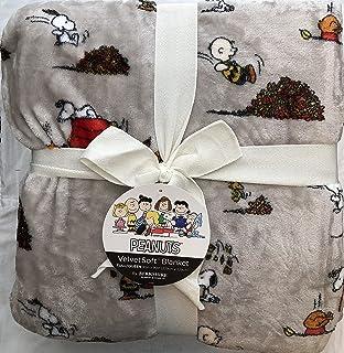 Berkshire Peanuts Snoopy Velvet Soft Blanket (Fall Season) Full Queen 90 x 90