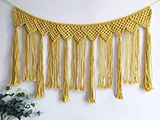 Youngeast Handmade Boho Macrame Wall Hanging Home Décor Woven Tapestry 39.5 x 15.7 Inches Yellow