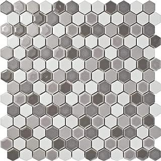 SomerTile FSHCMXLU Juno Hex Porcelain Mosaic Floor and Wall Tile, 11.63