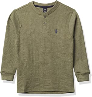 U.S. POLO ASSN. boys BOYS L/S SOLID THERMAL HENLEY T-Shirt