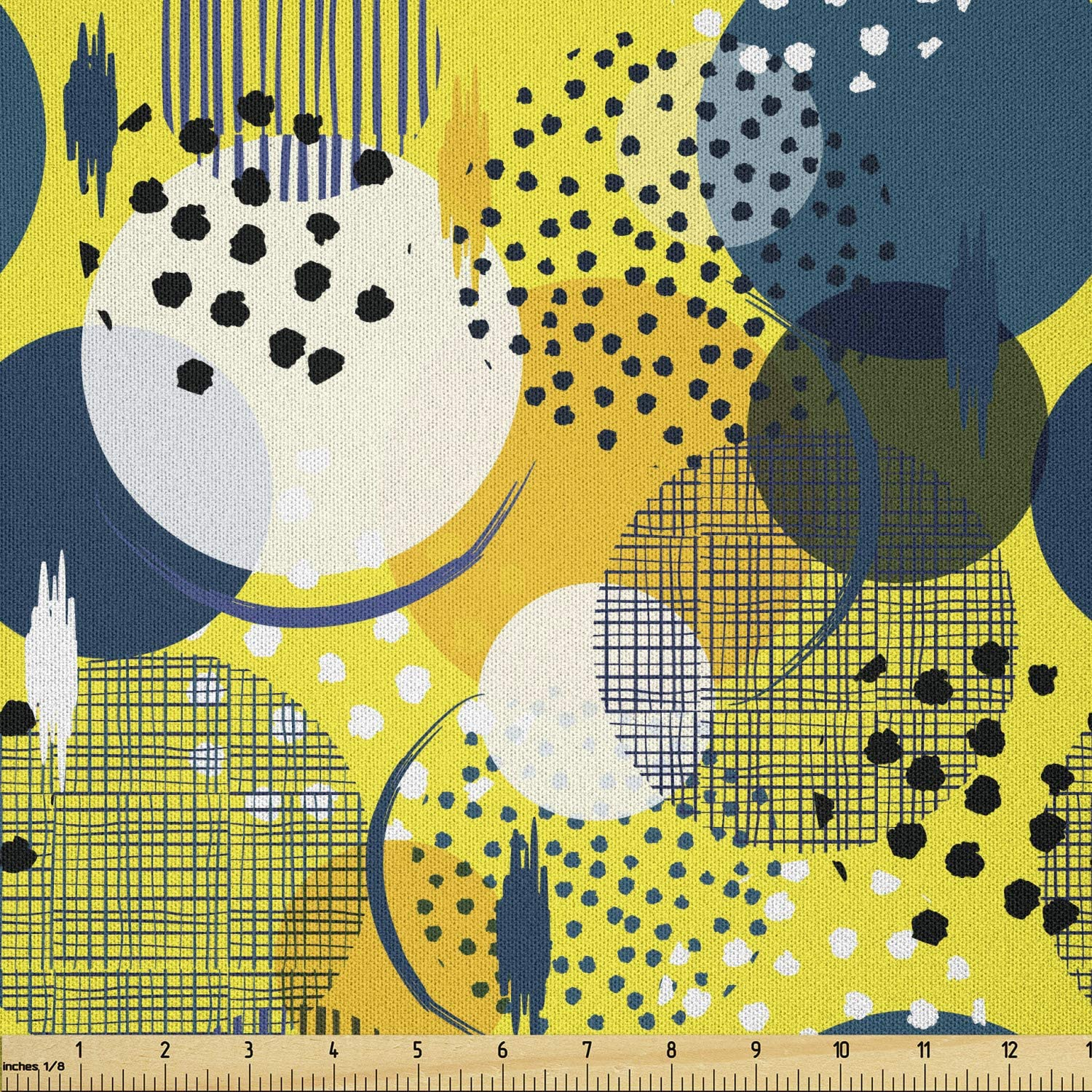 Lunarable Abstract Fabric by The Contemp Yard Creative free shipping Colorful Arlington Mall