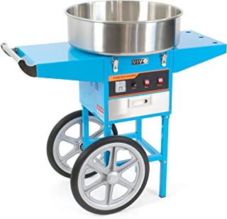 VIVO Blue Electric Commercial Cotton Candy Machine, Candy Floss Maker with Cart (CANDY-V002B)