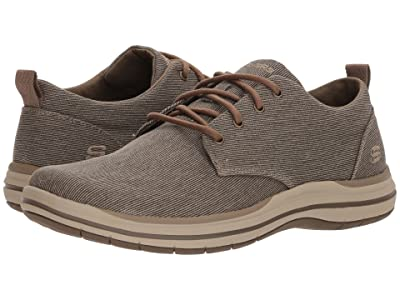 SKECHERS Classic Fit Elson Moten (Brown) Men
