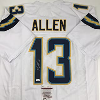 Autographed/Signed Keenan Allen Los Angeles LA White Football Jersey JSA COA