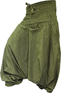 Plain Hippie Harem Aladdin Baggy Loose Fit Genie Gypsy Trouser Pants