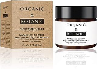 Organic & Botanic Madagascan Coconut Rejuvenating Night Moisturiser, 50ml. Premium Vegan Skincare For All Skin Types. Made...