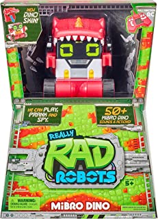 Really R.A.D. Robots - Mibro Dino - Interactive R/C Robot | 50+ Sounds and Actions | Remote Control Robot, Walkie Talkie, ...