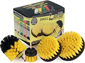 Drillbrush 4 Piece Nylon Power Brush Tile and Grout Bathroom Cleaning Scrub Brush Kit..