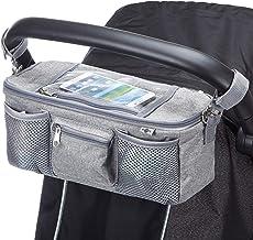 Plus 2/clips de poussette gratuits housse /à rabat /étanche exclusive pour t/él/éphone portable Organisateur BTR pour landau ou poussette Un accessoire incontournable pour la housse de pluie sac de rangement pour poussette