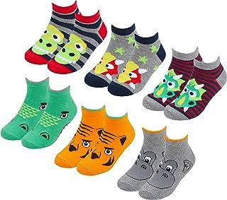 Calcetines tobilleros de algodón para niños (6 y 12 pares multipaquete)