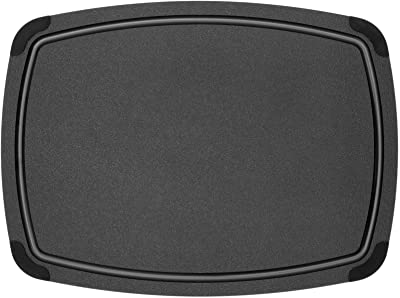 """Epicurean Cutting Board with Removable Silicone Corners, 17.5"""" by 13"""", Black"""