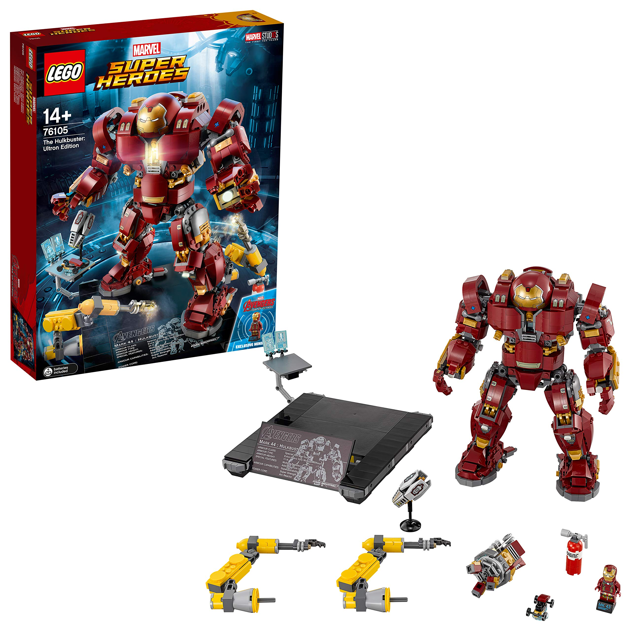 레고 헐크버스터 울트론 에디션 76105 빌딩 키트 (1363 피스) LEGO Marvel Super Heroes Avengers: Infinity War The Hulkbuster: Ultron Edition 76105 Building Kit (1363 Pieces)