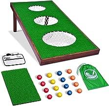 GoSports BattleChip PRO Golf Game | Includes 4' x 2' Target, 16 Foam Balls, Hitting Mat, and Scorecard
