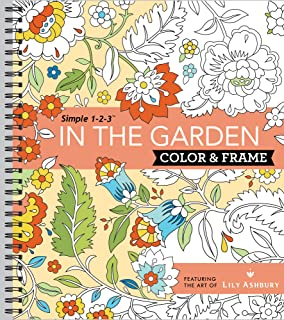Color & Frame Coloring Book - In the Garden