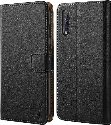 HOOMIL Handyhülle für Samsung Galaxy A50 Hülle, Premium Leder Flip Schutzhülle für Samsung Galaxy A50 Tasche, Schwarz