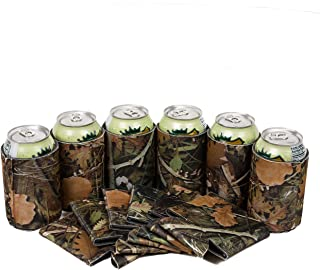 Beer Drink Blank Can Coolers - Blank Beer,Soda Coolies Sleeves   Soft,Insulated Coolers   30 Colors   Perfect For DIY Projects,Holidays,Events (25, Hunting Camo)