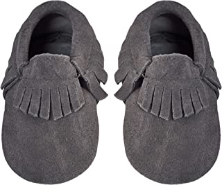 Liv & Leo Baby Girls Tassels Soft Sole Fringe Moccasins Leather Or Suede #Style 1