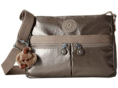 Kipling Angie (Metallic Pewter) Handbags