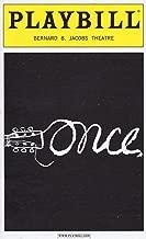 ONCE Playbill for the Tony Award-winning Original Broadway Production - Bernard B. Jacobs Theatre - April 2013