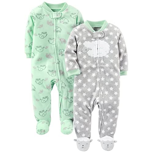 e018ba3f10 Simple Joys by Carter s Baby 2-Pack Fleece Footed Sleep and Play