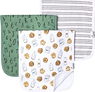 """Baby Burp Cloth Large 21''x10'' Size Premium Absorbent Triple Layer 3-Pack Gift Set """"Chip Set"""" by Copper Pearl"""