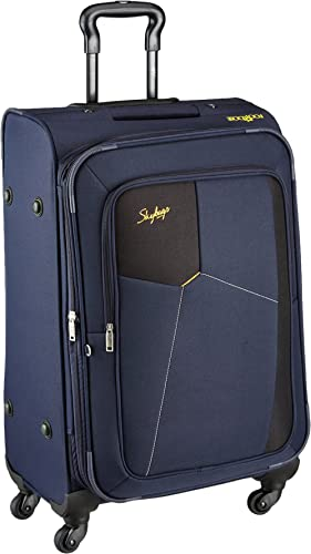Skybags Rubik Polyester 68 Cms Blue Softsided Check-in Luggage (STRUW68EBLU)