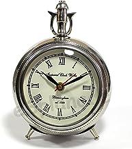 eSplanade Aluminum Table Clock (Chrome_3 Inch X 7 Inch X 5.5 Inch) | Vintage Clock | Time Piece | Home Decor