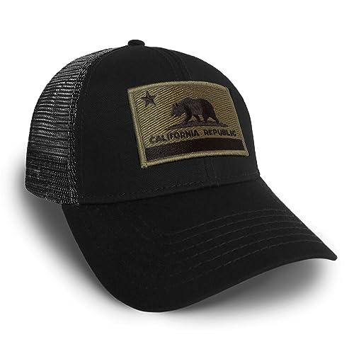 Strange Cargo California Flag Olive Drab Black Solid Baseball Cap Hat  Snapback 5f9e4bb3d6b4