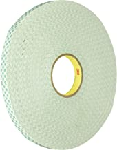 3M 4032 Natural Polyurethane Double Coated Foam Tape, 1