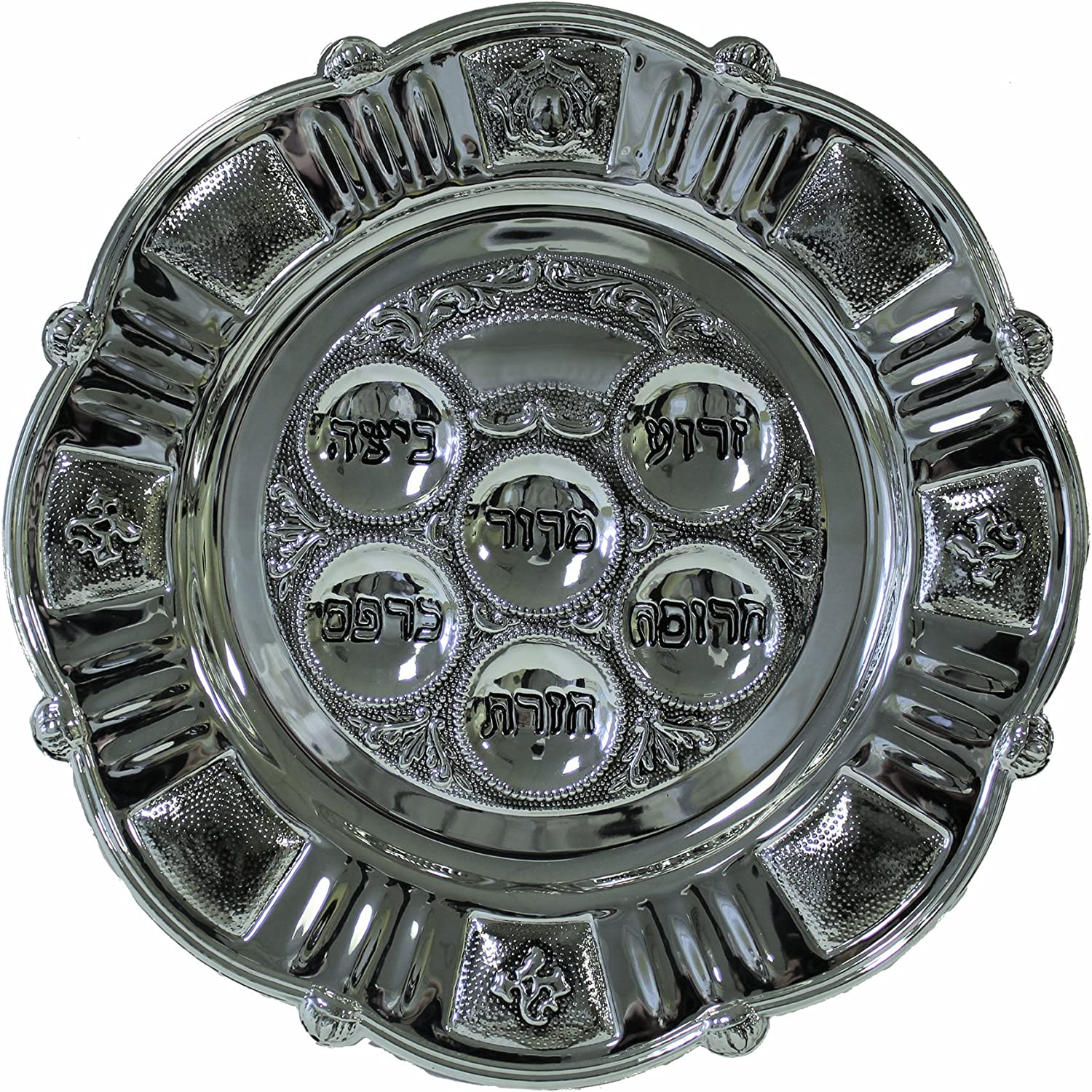 sale 2021 autumn and winter new Majestic Giftware SPTF12562NX Passover Nic Plate Seder 15-Inch