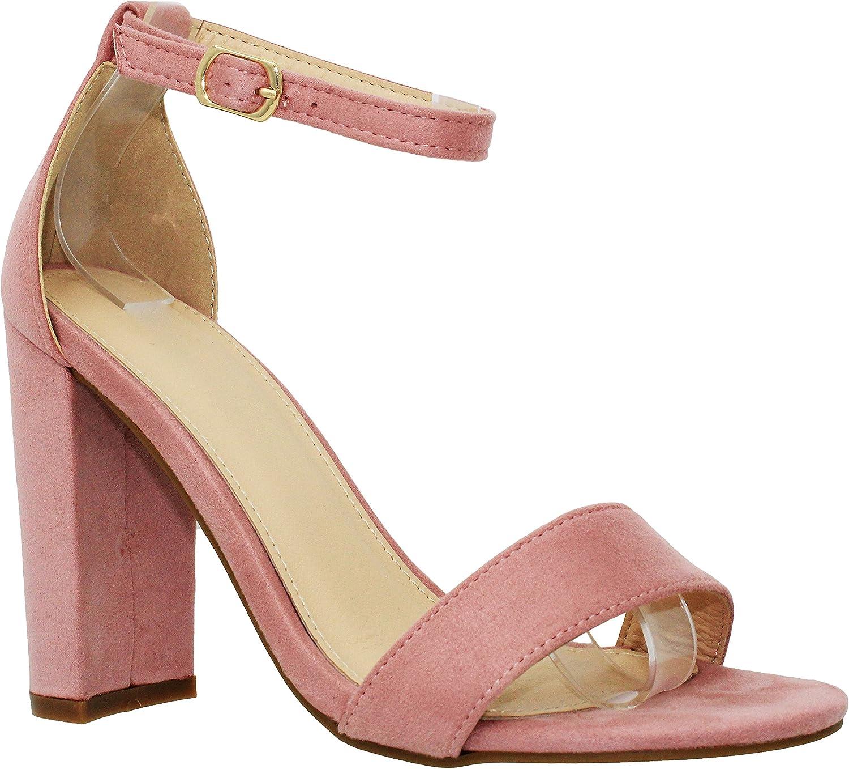 Arlington Mall MVE Shoes Women's High material Open Toe Heel Heeled Sandal Strappy Chunky
