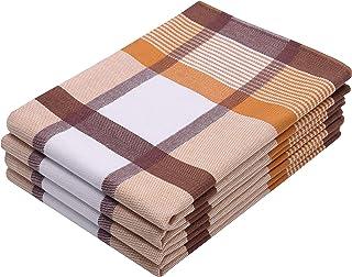 ZOLLNER 4er Set Geschirrtücher Baumwolle, 50x70 cm, braun weitere verfügbar
