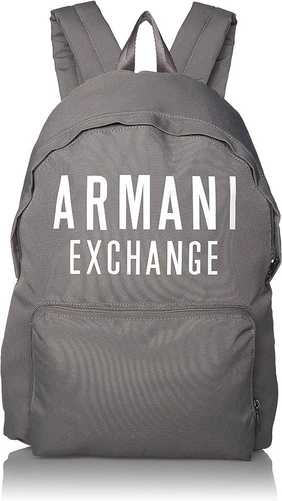 Armani exchange backpack, zaino per uomo, tracolle imbottite e regolabili, 100% poliestere, impermeabile 952199 9A124A