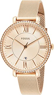 Fossil Women's Quartz Watch, Analog Display And Stainless Steel Strap - ES4628-1