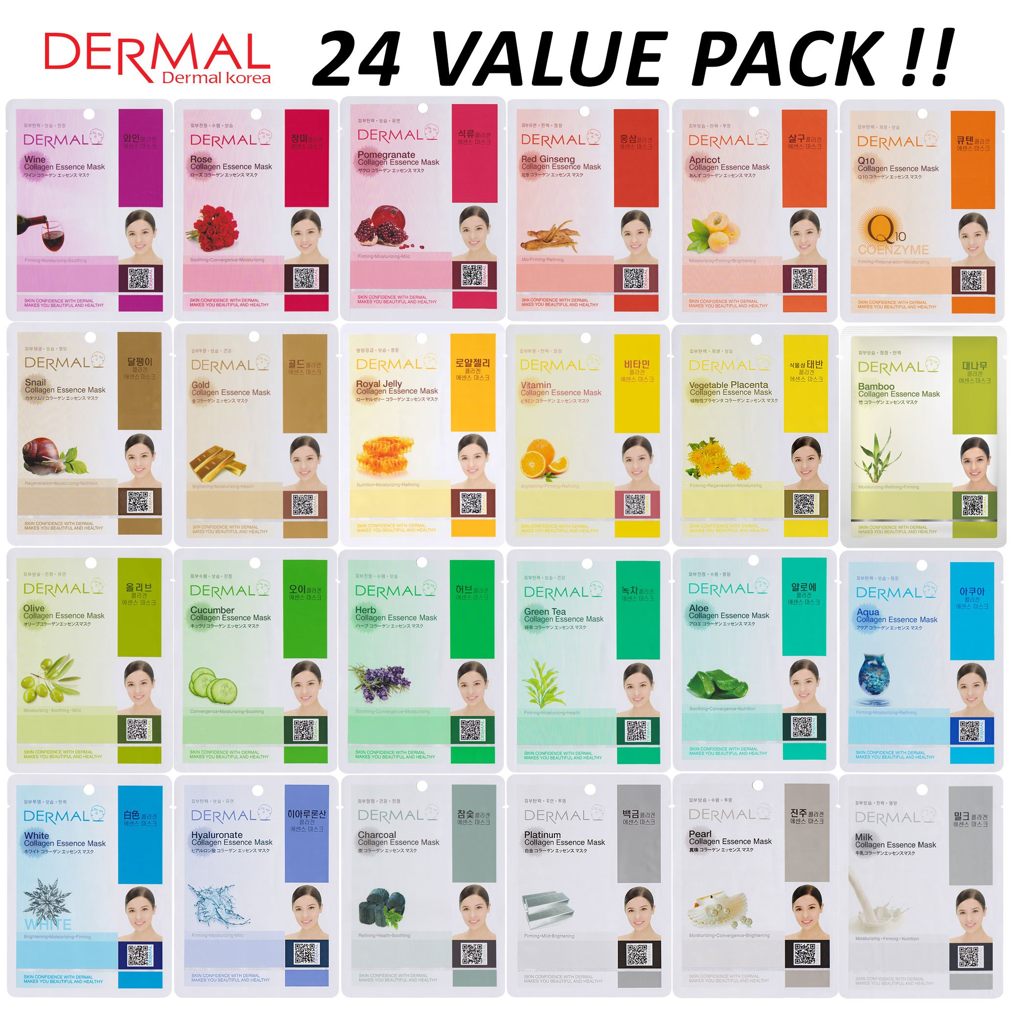 DERMAL Collagen Essence Facial Sheet