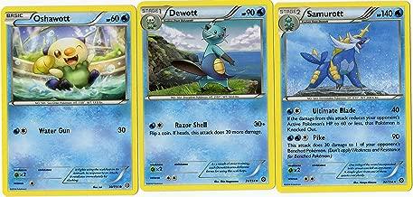Evolution Set - SAMUROTT DEWOTT Oshawott - Steam Siege 32/114 - Rare Card LOT