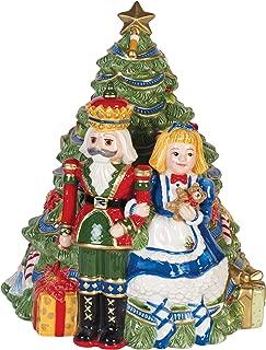 Fitz and Floyd 55-050 Christmas Nutcracker Cookie Jar Red/Green/Tan