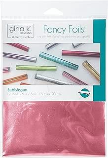 Gina K. Designs for Therm O Web Fancy Foils, 6 Inch x 8 Inch Sheets, Bubblegum