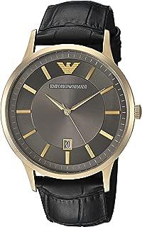 Men's Quartz Watch with Stainless-Steel Strap, Black, 22 (Model: AR11049)
